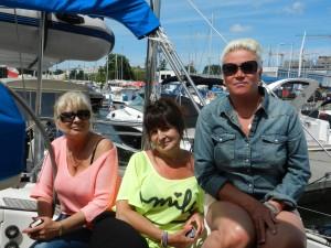 Grazyna, Jolanta och Lena på båten