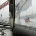 Skitväder på väg mot Gotland