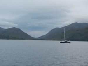 På sjön Loch Lochy