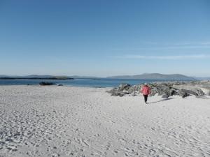 Sandstrand på ön Iona