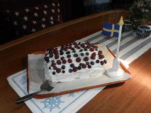 Födelsedags och silver bröllops tårta