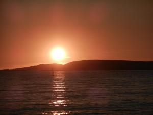 Solnedgång i Baiona