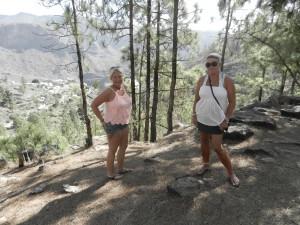 Annika och Lena på höga höjder på Gran Canaria