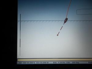 Ekvatorpassage söndag 15/2 kl 0015