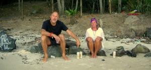 Kees och Lena har strandparty