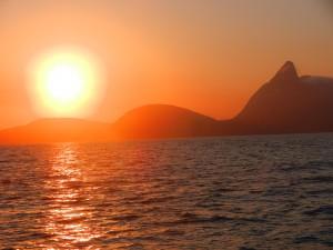 Soluppgång över Rio