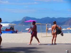 Många brasilianare motionerar på söndagar och det finns många stilar