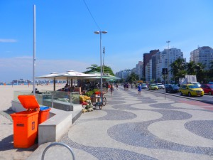Copacabana stadsdel med tillhörande strand