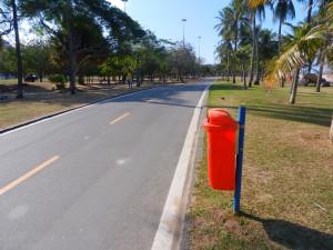 Cykelbana i Rio - som en svensk mindre bilväg