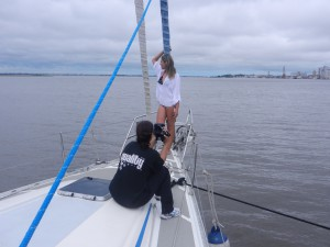 Båten utlånad som rekvisita vid fotografering