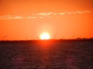 Solnedgång i Rio Grande