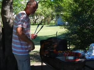 Holländske Kees är juldagens grillmästare.