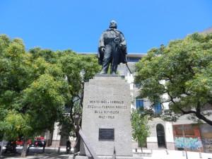 Italienska generalen Giuseppe Garibaldi, som mellan 1842 - 1848 höll samman försvaret av Montevideo