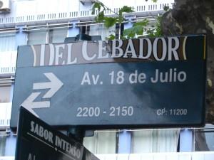 Avenida 18 de Julio, en av huvudgatorna i Montevideo