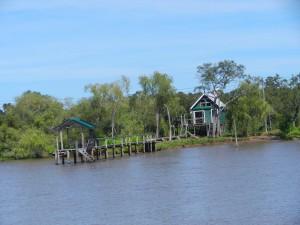 Medström i floden på väg mot San Fernando