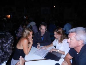 Elle med två kompisar och Micke på Catedral del Tango.