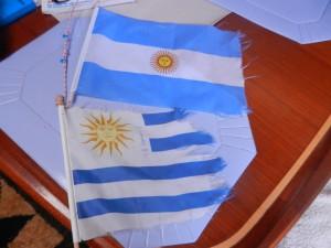 Gästflaggorna slits ganska bra av vind och sol