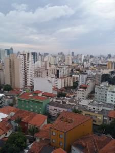 Sao Paulo med vy från hotellrummet