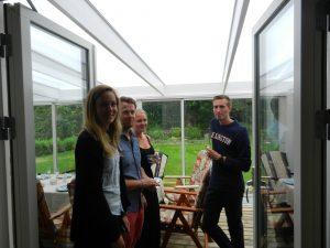 Invigning av familjen Ahlqvists nybygda uterum