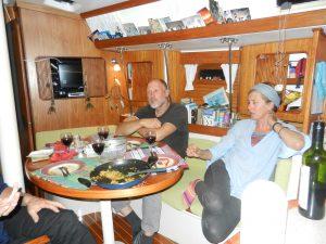 Avskedsmiddag i Duhbe med Susan och Kees, trevlig middag men sorgligt att skiljas