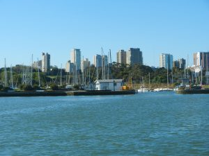 Inloppet till gästhamnen i Mar del Plata