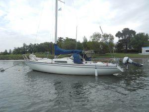 Svenska båten Tua-lisa på boj i Club Vito Dumas