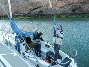 Tua-Lisa anländer till Galeta Horno efter fyra dygns segling