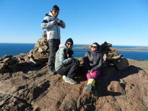 Modris, Mia och Lena på topptur