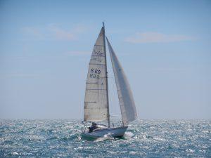 Tua-Lisa flyger fram på havet