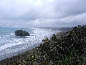 Vastra kusten pa Isla Chiloe, med utsikt over Pacific ocean.