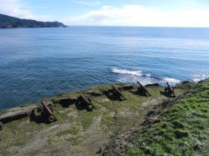 Kanoner som tidigare försvarade inloppet till Valdivia.