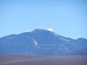 Pyrande vulkan