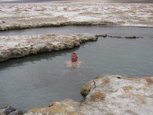 Bad i för varmt vatten