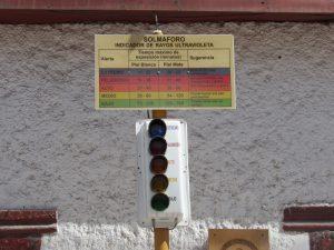 UV indikator i Putre. Finns på många Chilenska orter.